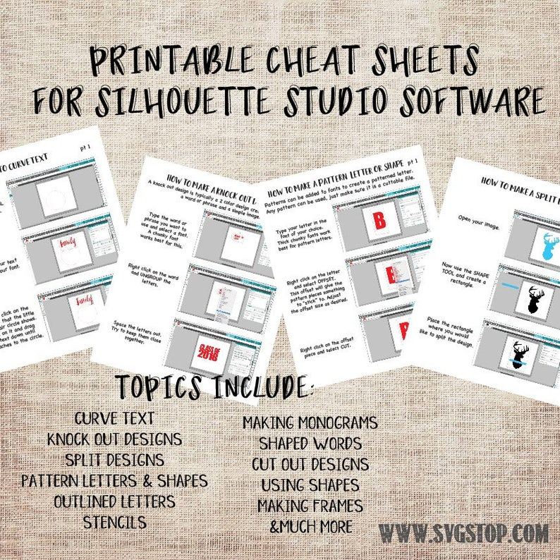 graphic relating to Printable Cheat Sheet identify Printable Cheat Sheets for Silhouette Studio - Rookies Expert Toward Building Minimize Data files