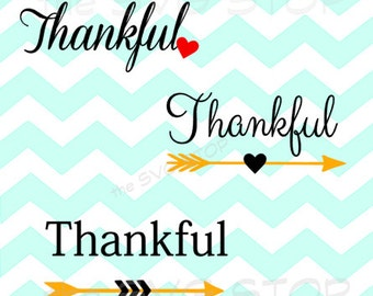 Thankful Arrows SVG and studio files for Cricut, Silhouette, Vinyl Cutters and Screen Printing