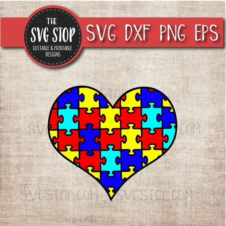 a40ea3124 Puzzle Piece Heart Autism Awareness SVG Svg Dxf Png Eps