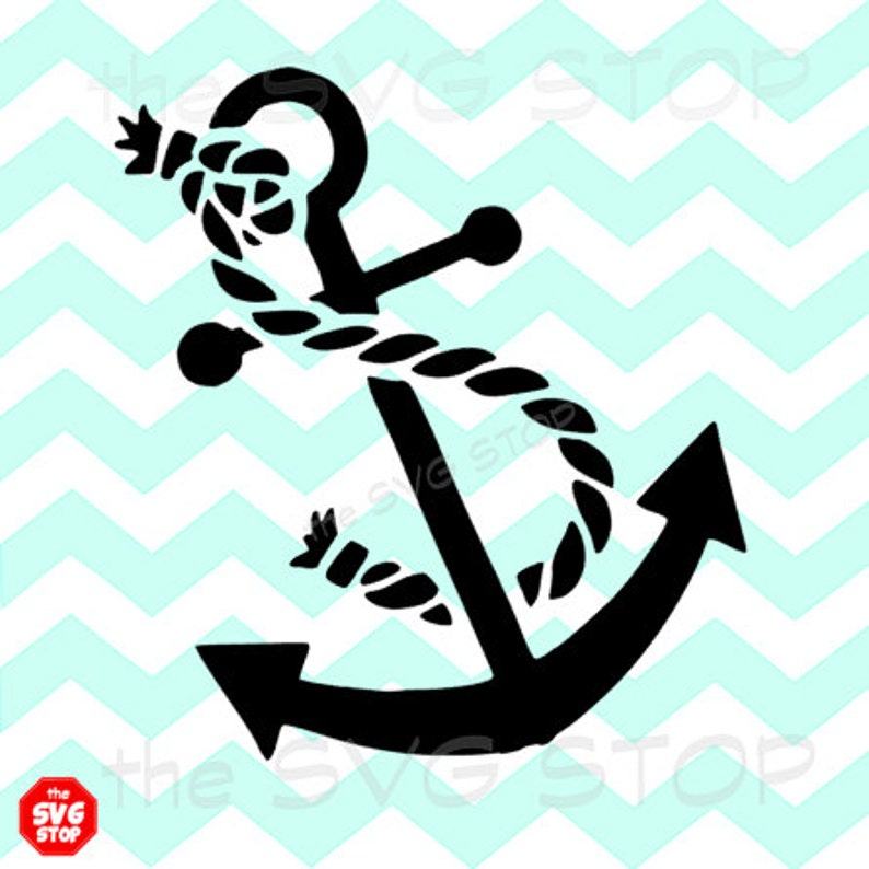 Anchor With Rope Design Svg And Studio Files For Cricut Etsy