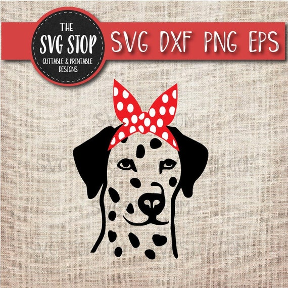 Dalmatian Dog Bandana Animals Svg Cut File Clipart The Svg