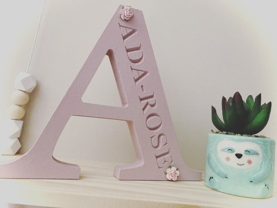 Nursery room 15cm 3-4 week turnaround Nursery decor New Baby Gift New baby Boy Wooden Letters Personalised Gift New Baby Girl