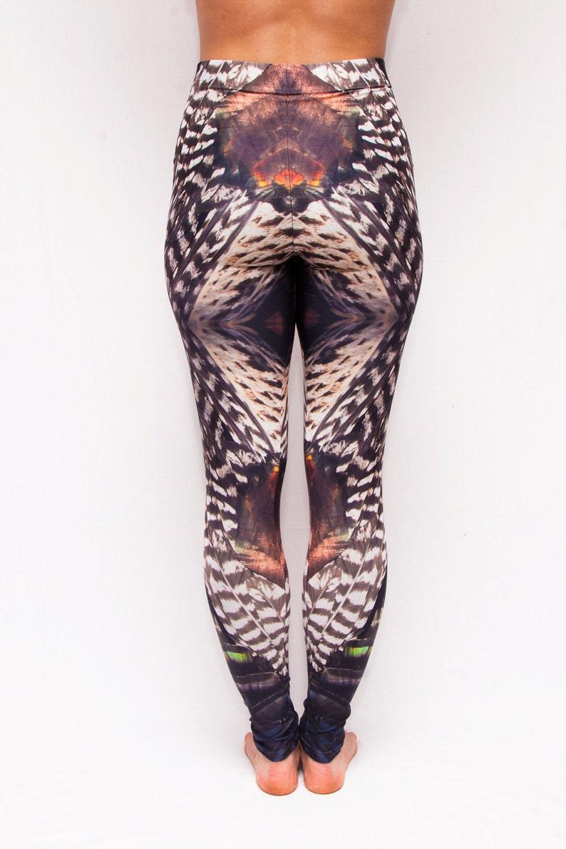 15cfda1a64af7 Turkey Feather Leggings Blacklight Reactive | Etsy