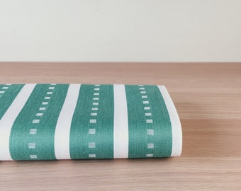 1930-1950 Olive Green Antique Ticking Fabric Sateen Stripes European Mattress Cotton Ticking By The Yard