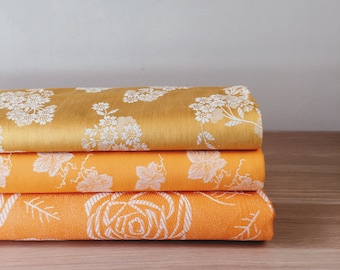 Yellow Antique Fabric | Ticking Fabric | 1930-1950 | Mattress Ticking By The Yard | Home Decor | European Vintage Cotton