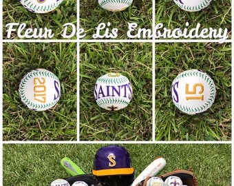 Embroidered Baseball, Embroidered Team Baseball, Personalized Embroidered Baseballs, Personalized Baseball, Customized Baseball