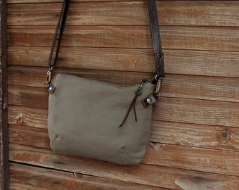 Military Olive Green Crossboy bag / Travel Bag / Every day bag / Minimalist Bag
