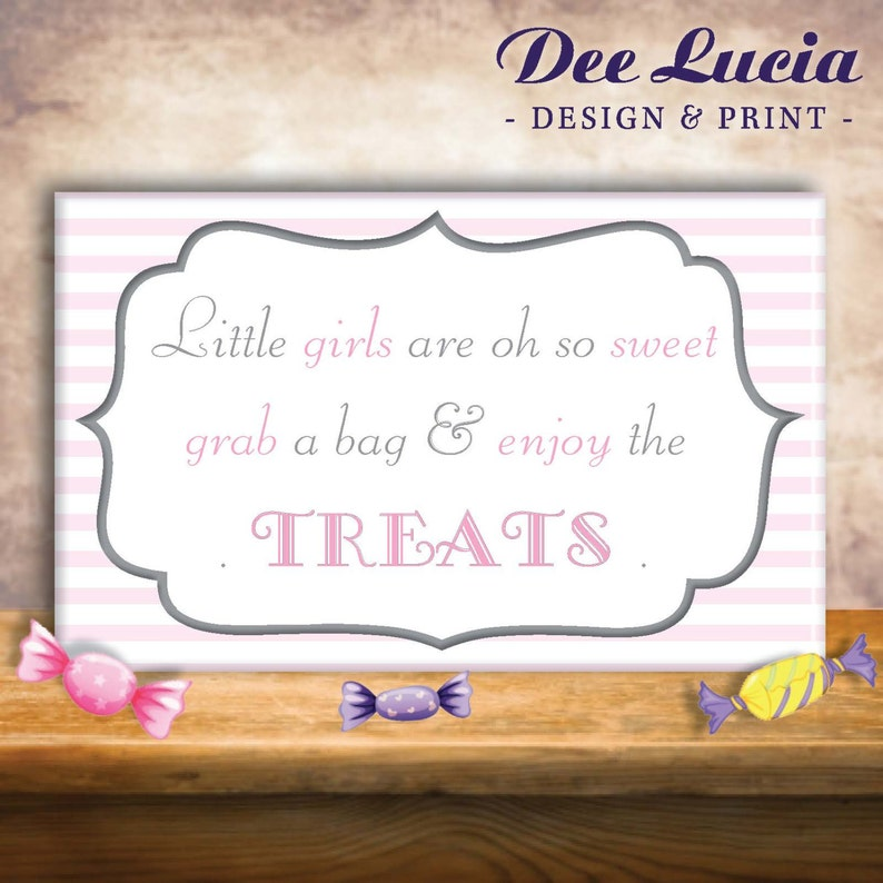 Girl Baby Shower Dessert Table Sign Customizable Printed Etsy