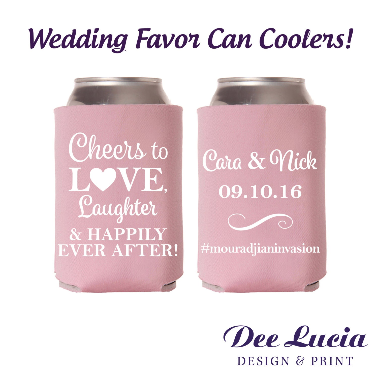 Cheers to love laughter and happily ever after Wedding favor
