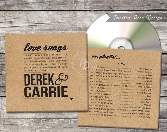 Wedding CD Case CD Sleeve DVD Cover Custom Digital Printable