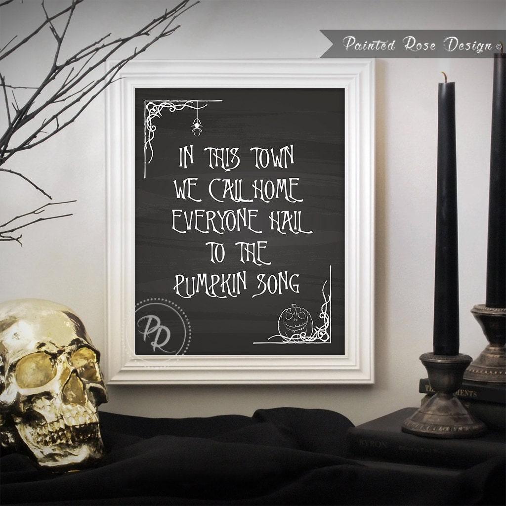 Art Print Nightmare Before Christmas Pumpkin Song Halloween   Etsy
