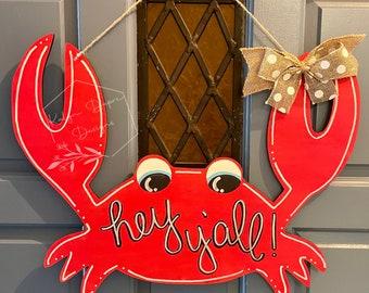 Hey Y'all Crab Door Hanger