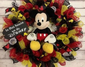 Mickey Mouse Disney wreath front door