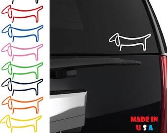 wiener dog laptop Dachshund Vinyl Decal Car sticker Permanent stickers