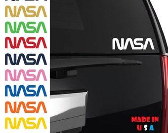 NASA space Decal Car Window space rocket alien science shuttle aerospace engineering symbol iPhone Sticker Vinyl ANY SIZE