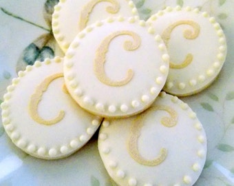Sugar Cookies with Initial