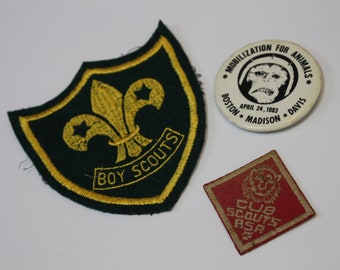 Vintage Patches and Buttons