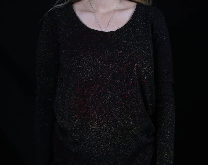 Women's Hand Dyed Galaxy Long Sleeve Shirt