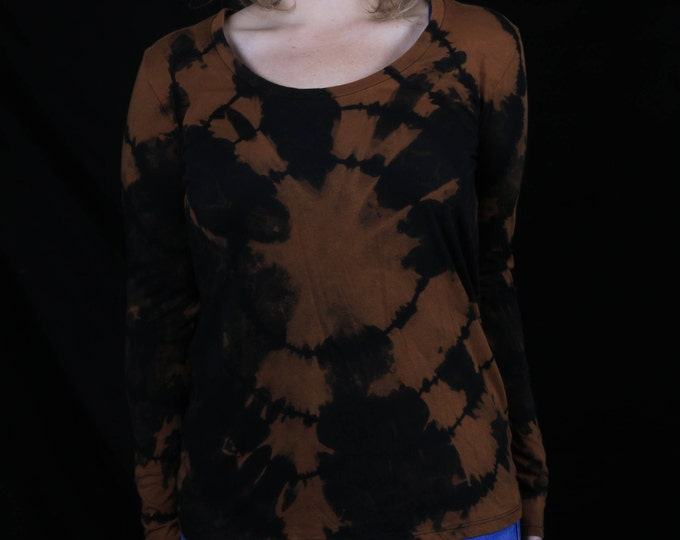 Hand Dyed Women's Long Sleeve Shirt