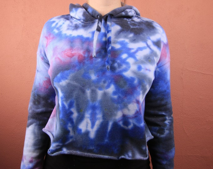 Hand Dyed Cropped Hoodie