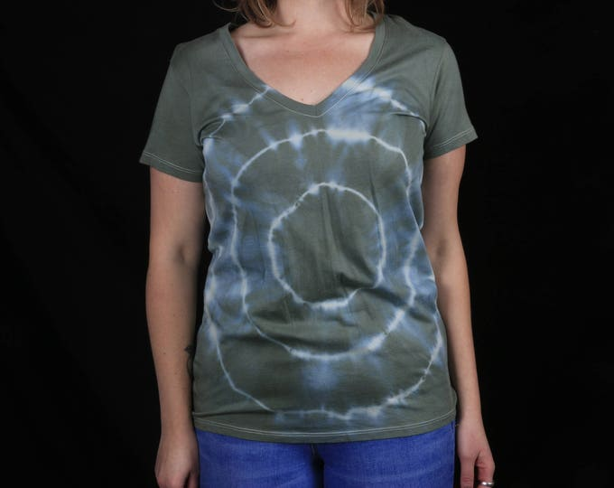 Hand Dyed Women's Eclipse V-Neck Shirt