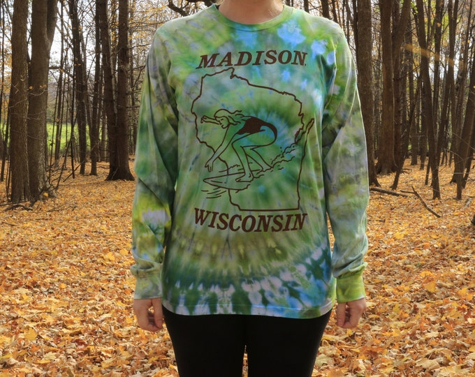 Hand Dyed Madison WI Long Sleeve Shirt