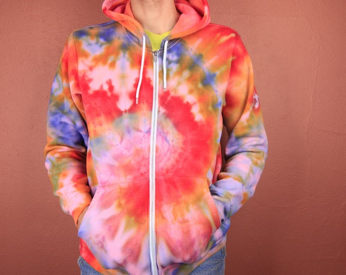 Hand Dyed Zip-Up Hoodie