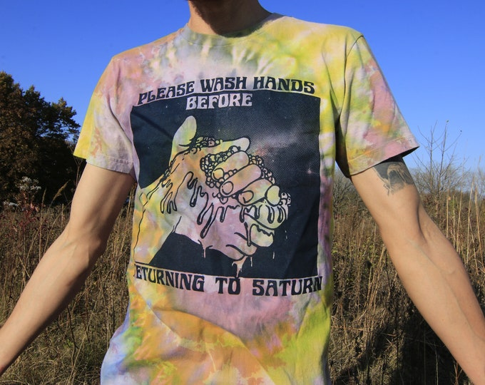 Please Wash Hands Before Returning To Saturn T-shirt