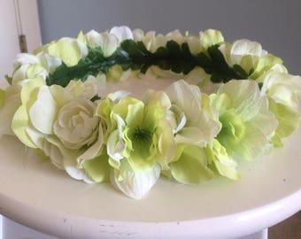 Flower Crown - Green - Pastel Floral Crown