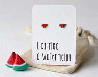Dirty Dancing theme gift watermelon earrings