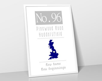 New Home Print - Moving House Gift - New Home - Print