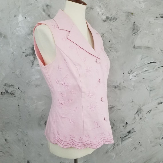 DRESSBARN Powder Pink Linen Pant Suit - Size 10 -… - image 4