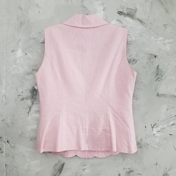 DRESSBARN Powder Pink Linen Pant Suit - Size 10 -… - image 7
