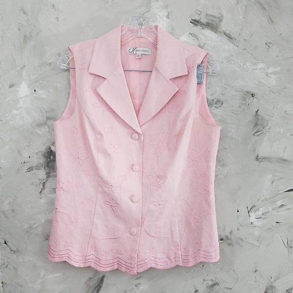 DRESSBARN Powder Pink Linen Pant Suit - Size 10 -… - image 6