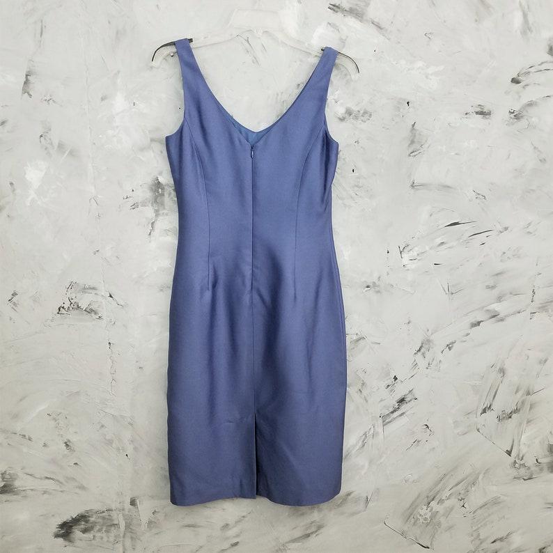Size 2 Blue Silk Dress Business Suit ANN TAYLOR Periwinkle Blue Cocktail Dress /& Jacket Vintage 90s Blue Women/'s Dress and Jacket Suit