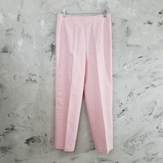DRESSBARN Powder Pink Linen Pant Suit - Size 10 -… - image 8