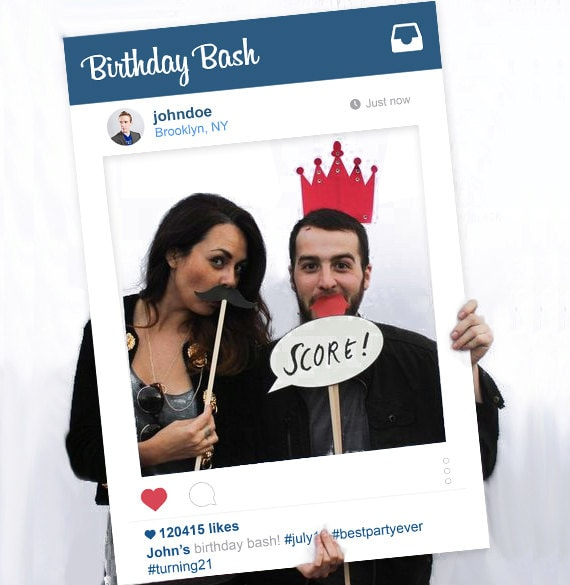 Instagram Frame Photo Booth Prop Instagram Theme Birthday