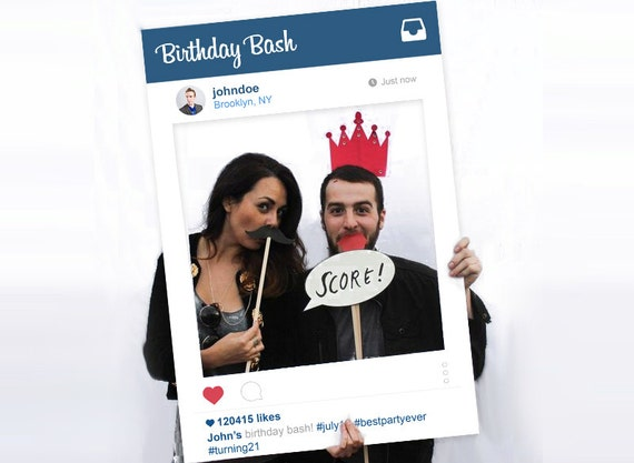 Social Media Photo Prop Instagram Style Digital File Photo