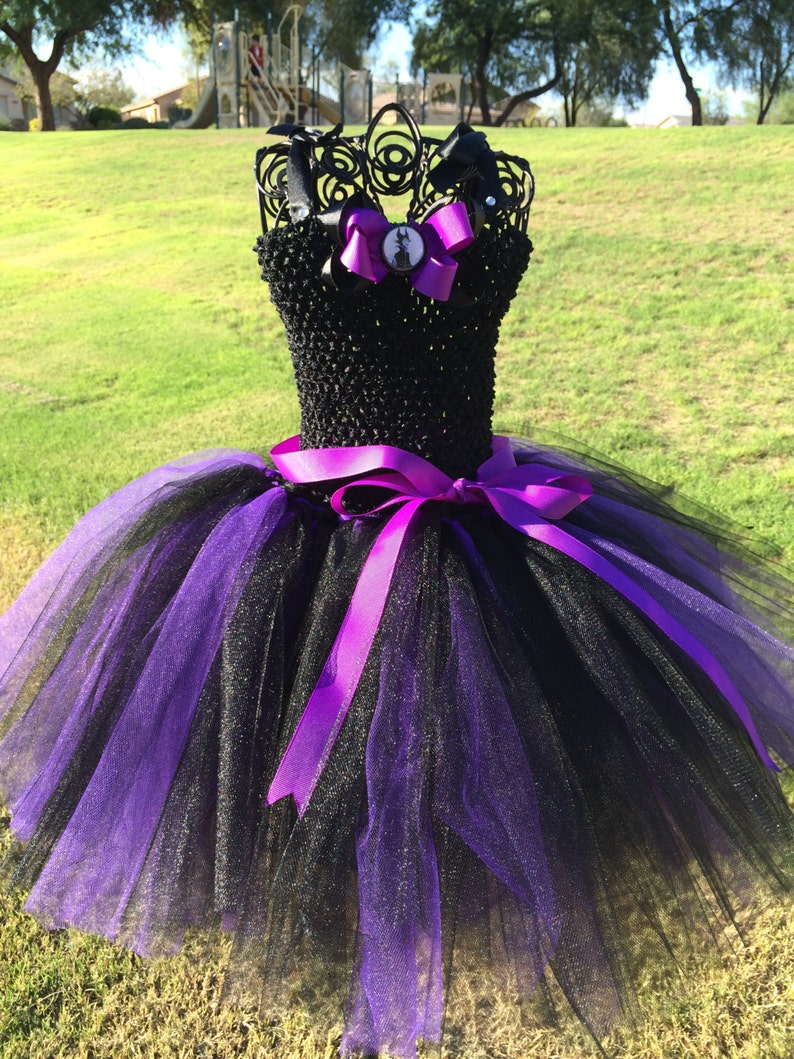 Maleficent Inspired tutu dress, Halloween tutu costume