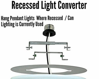 Recessed Lighting Converter - Change Recessed Lights into a Pendant Lights or Ceiling Lights - Conversion Adapter for Can Lights