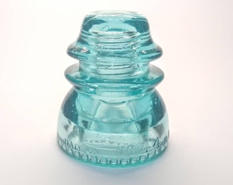Lynchburg 44 Glass Insulator - CD 154 - Aqua