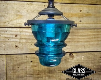 Antique Glass Insulators Pendant Lighting - Kitchen Pendant Lighting - Glass Pendant Light Shade - - 110v Industrial Gray Hemingray