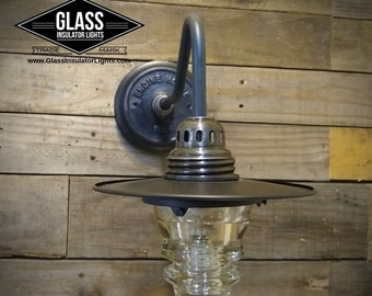 Rusticl Wall Light - Industrial Wall Light Fixture - Glass Insulator Light