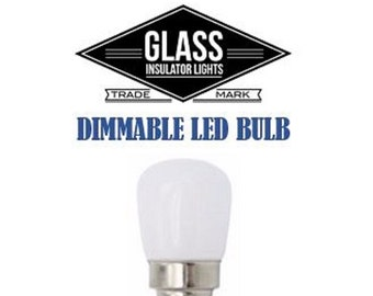 Glass Insulator Light LED Light Bulb -Dimmable Insulator Light Bulbs