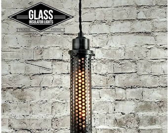 Pendant Light - Industrial Pendant Light - Steampunk Light - Industrial Lighting Ceiling Lights Glass Insulator Light Light Fixtures