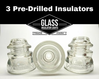 Pre-Drilled Insulators for DIY Pendant Lights & Lamps