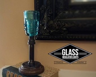 Glass Insulator Candle Stick Holder