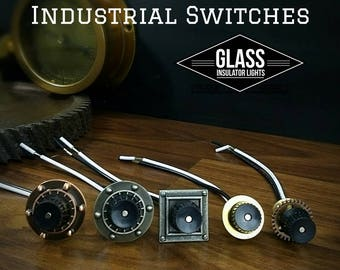 Pipe Lamp Switch - Steampunk Lamp Switch - Industrial Rotary Switch,