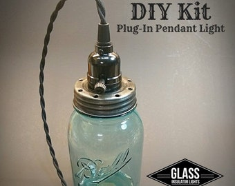 DIY Mason Jar Plug-In Pendant Light - DIY Kit