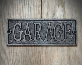 Garage Sign - Vintage Metal Garage Sign - Plaque